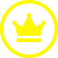 icona corona GIALLO